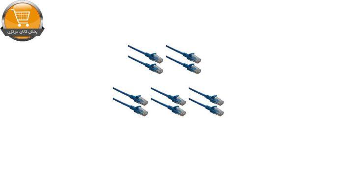 کابل شبکه CAT5 پی نت مدل210 طول 0.5 متر بسته 5 عددی