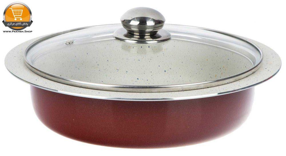 ست ظرف پخت ۳ پارچه عروس کد ۲۰۰۵۸ زرشکی   پخش کالای مرکزی