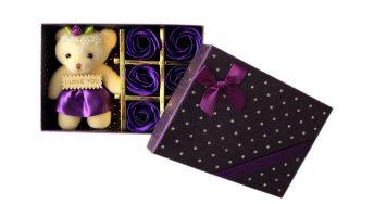 عروسک خرس مدل 04 به همراه جعبه گل|پخش کالای مرکزی