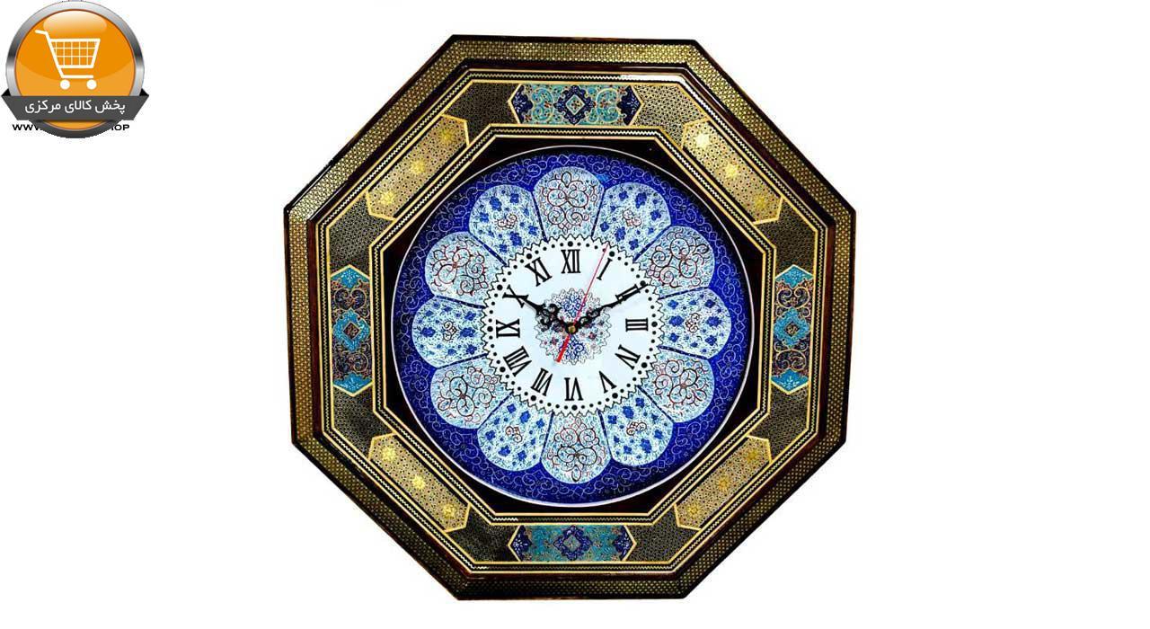 ساعت دیواری میناکاری اثر استاد پورصنعتی کد 3