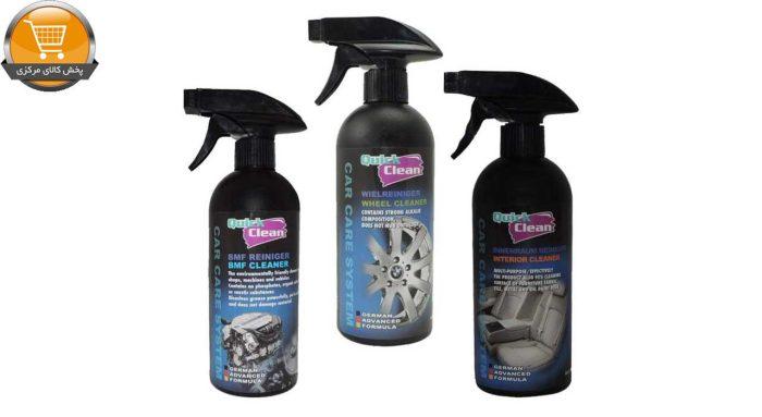 اسپری نظافت خودرو کوئیک کلین کد 2105 مجموعه ی 3 عددی|پخش کالای مرکزی