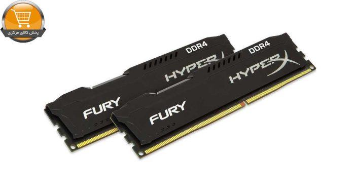رم دسکتاپ DDR4 دو کاناله 2400 مگاهرتز CL15 کینگستون مدل HyperX Fury ظرفیت 16گیگابایت|پخش کالای مرکزی