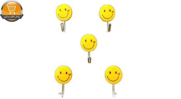 آویز حوله پرنیان هفت رنگ مدل Smile بسته 5 عددی|پخش کالای مرکزی