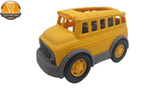 ماشین اسباب بازی کیدتونز مدل اتوبوس مدرسه بهمراه بازی فکری تانگرام|پخش کالای مرکزی