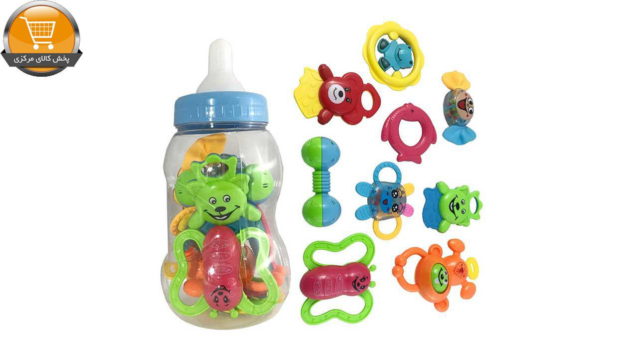 جغجغه کودک مدل شیشه شیر کد 150 مجموعه 9 عددی|پخش کالاي مرکزي
