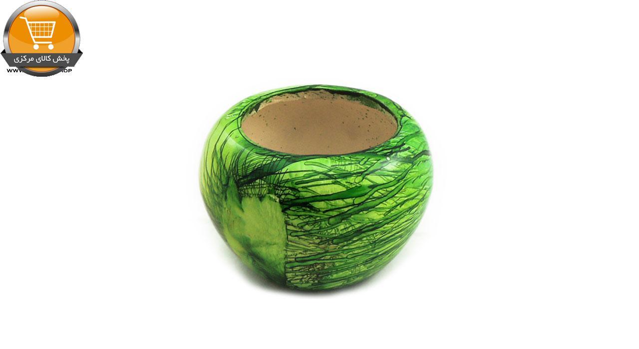 گلدان سرامیکی مدل سلینا سبز سایز 12| پخش کالای مرکزی