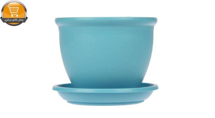 گلدان پلاستیکی دایره ای آبی سایز 12 | پخش کالای مرکزی