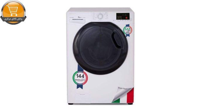 لباسشوییاتوماتOZ-1183WT-8Kg سفید درب اسموکیZEROWAT | پخش کالای مرکزی