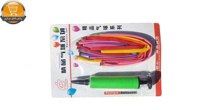 بادکنک BALLOONS SET مدل CL به همراه تلمبه بسته 25 عددی سایز 200 × 180