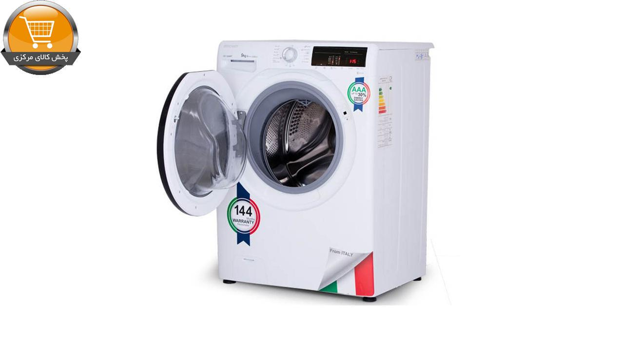 لباسشوییاتوماتOZ-1393WT-9Kg سفید درب اسموکیZEROWAT | پخش کالای مرکزی