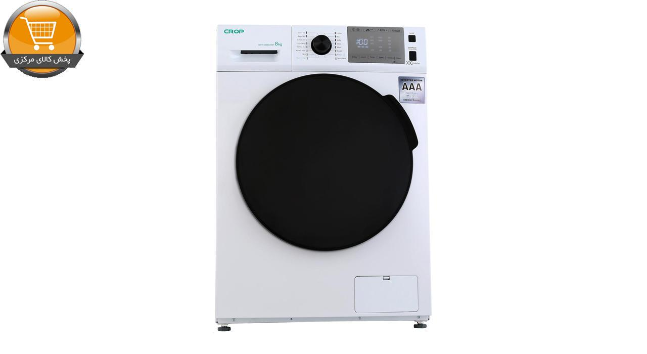 لباسشویی اتومات WFT-48402WT-8Kg سفید درب کروم CROP | پخش کالای مرکزی