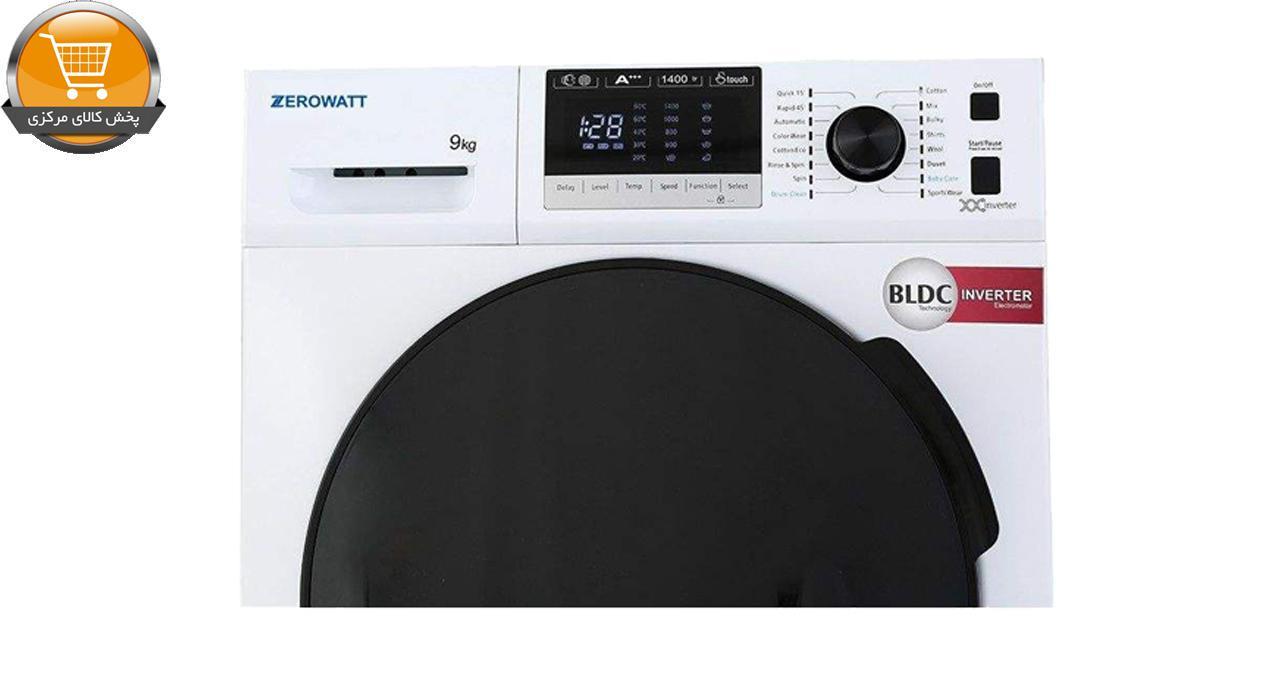 لباسشوییاتوماتZWT-9014WT-9Kg سفید درب اسموکیZEROWAT | پخش کالای مرکزی