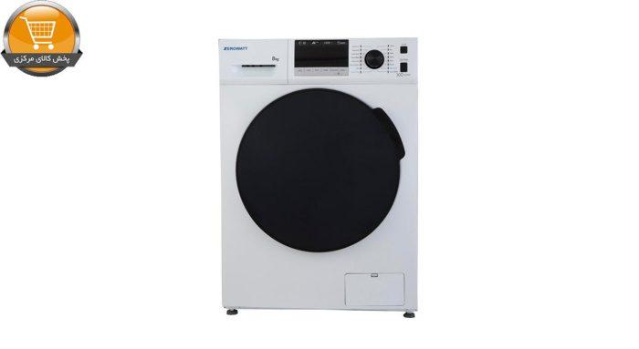 لباسشوییاتوماتZWT-8014WT-8Kg سفید درب اسموکیZEROWAT | پخش کالای مرکزی