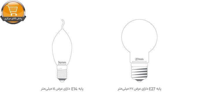 لامپ ال ای دی 7 وات اشکی بروکس مدل BRX007C3LE1A4XX-PAIC پایه E14 | پخش کالای مرکزی