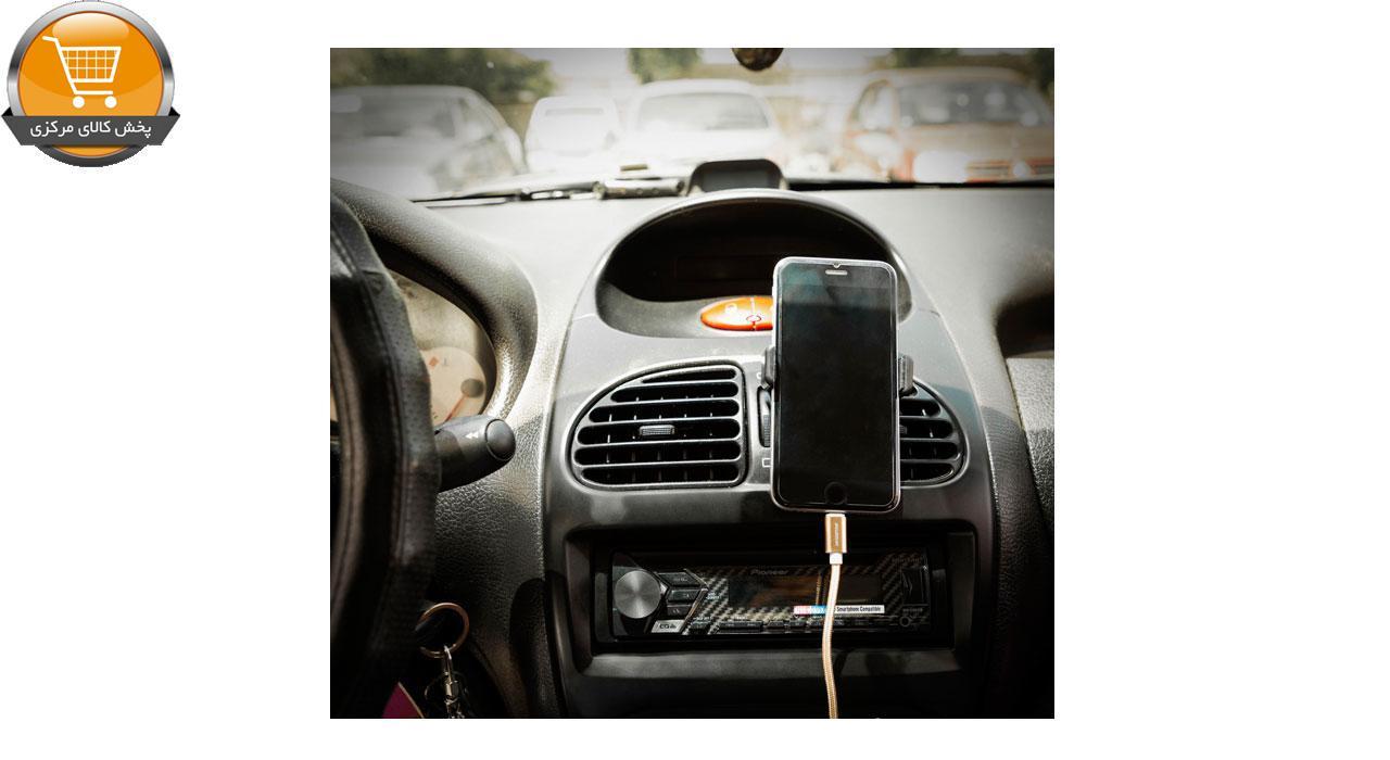 شارژر فندکی کینگ استار مدل K Box50 به همراه پایه نگهدارنده گوشی موبایل و کابل تبدیل   پخش کالای مرکزی