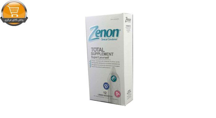 کاندوم زنون مدل Total Suplement بسته 12 عددی | پخش کالای مرکزی