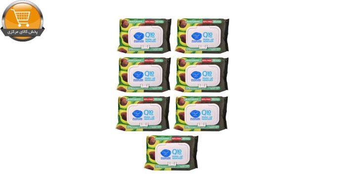 دستمال مرطوب پاک کننده آرایش دافی مدل Q10 moisturizer بسته 50 عددی مجموعه 7 عددی | پخش کالای مرکزی