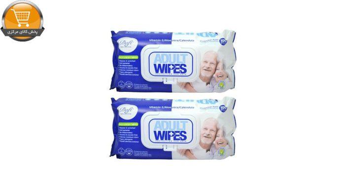 دستمال مرطوب دافی مدل Adult Wipes مجموعه 2 عددی |پخش کالای مرکزی