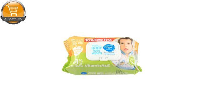 دستمال مرطوب کودک دافی مدل B10 بسته 100 عددی | پخش کالای مرکزی