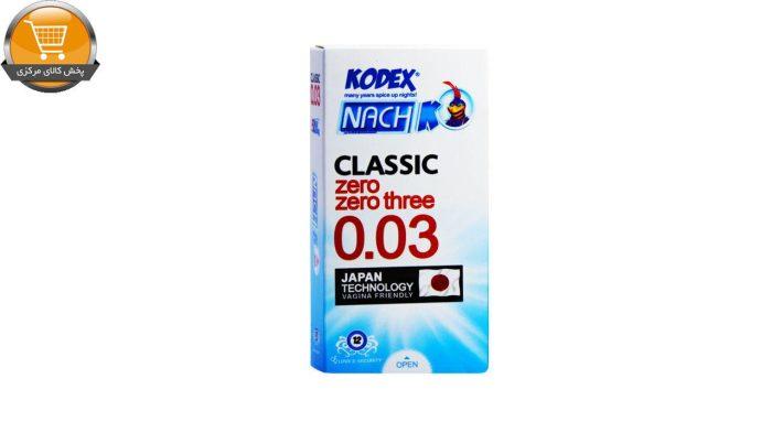 کاندوم ناچ کدکس مدل 0.03 بسته 12 عددی | پخش کالای مرکزی