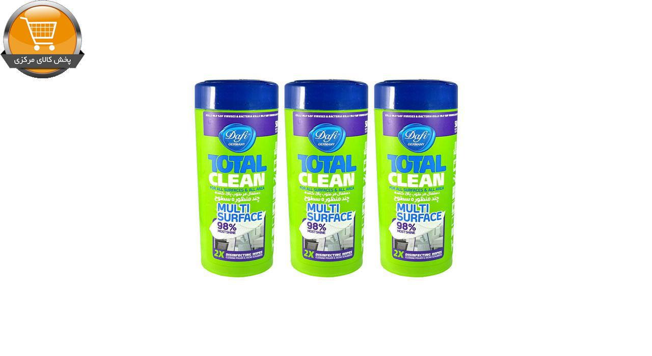 دستمال مرطوب تمیز کننده سطوح دافی مدل 3ANTIBACTERIAL مجموعه 3 عددی | پخش کالای مرکزی