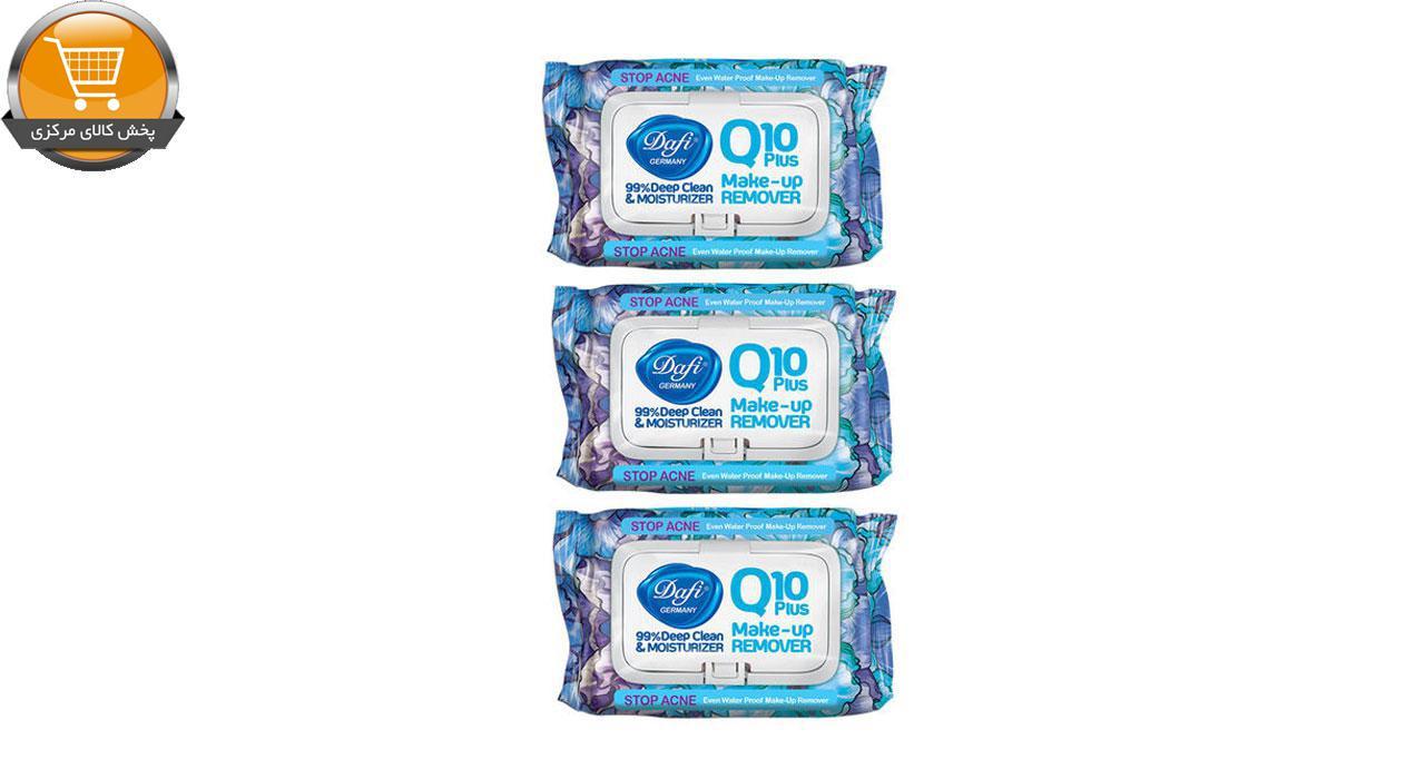 دستمال مرطوب دافی مدل Q10-STOP ACNE مجموعه 3 عددی | پخش کالای مرکزی