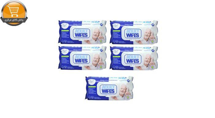 دستمال مرطوب دافی مدل Adult Wipes مجموعه 5 عددی | پخش کالای مرکزی