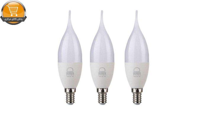 لامپ ال ای دی 7 وات بروکس پایه E14 بسته 3 عددی | پخش کالای مرکزی