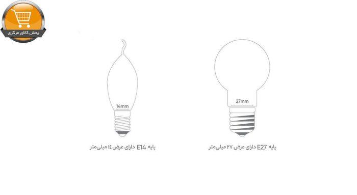 لامپ ال ای دی 7 وات بروکس پایه E14 بسته 3 عددی   پخش کالای مرکزی