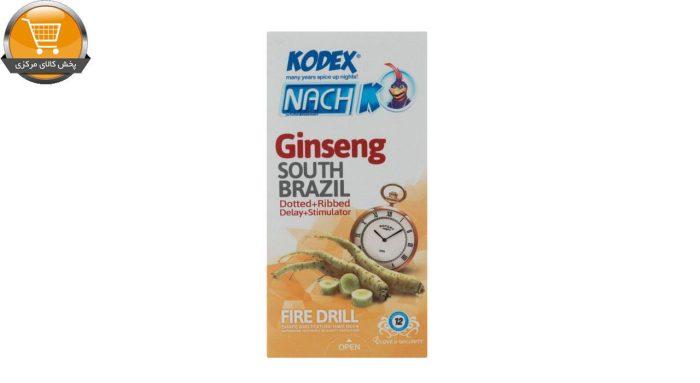 کاندوم تاخیری جینسینگ کدکس مدل Ginseng بسته 12 عددی | پخش کالای مرکزی