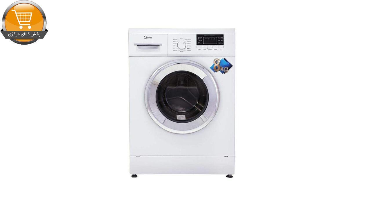 لباسشویی اتوماتیک WU-24804 W-8KG سفید درب کروم   پخش کالای مرکزی
