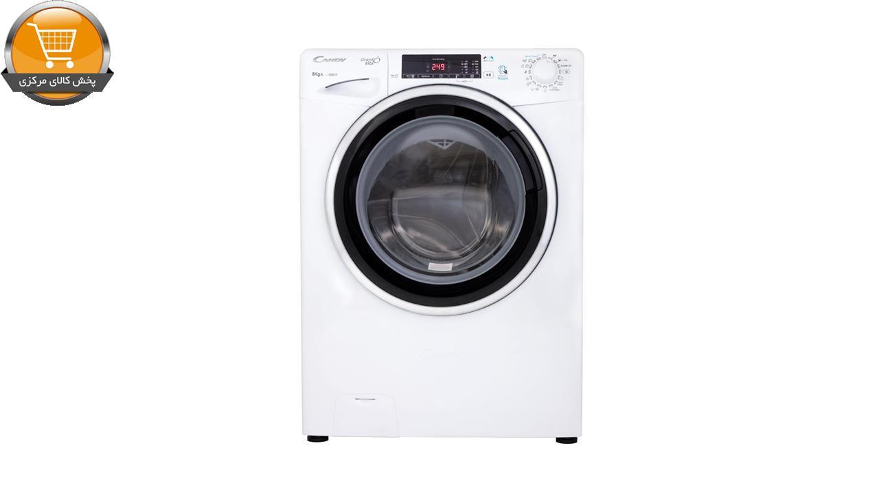 لباسشوییاتومات GVS-228TC3-8Kg سفید درب اسموکی | پخش کالای مرکزی