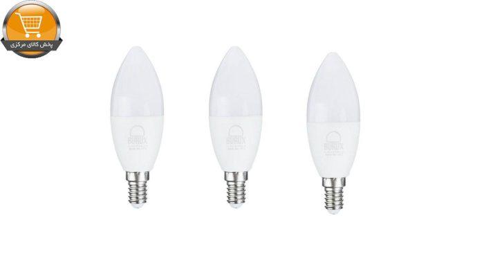 لامپ ال ای دی 7 وات بروکس مدل ۱۳۷۲ پایه E14 بسته 3 عددی | پخش کالای مرکزی