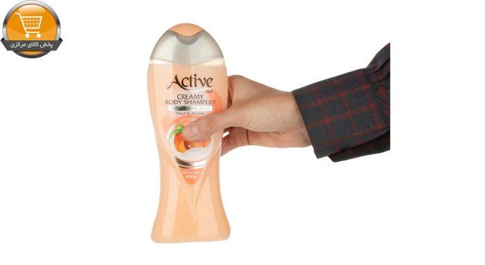 شامپو بدن کرمی اکتیو مدل Peach And Almond مقدار 400 گرم | پخش کالاي مرکزي