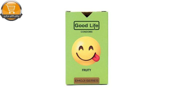 کاندوم گودلایف سری ایموجی مدل Fruity بسته 6 عددی | پخش کالای مرکزی
