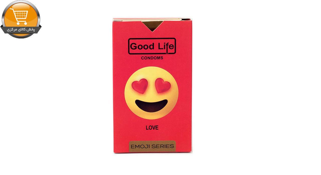 کاندوم گودلایف سری ایموجی مدل Love بسته 6 عددی | پخش کالای مرکزی