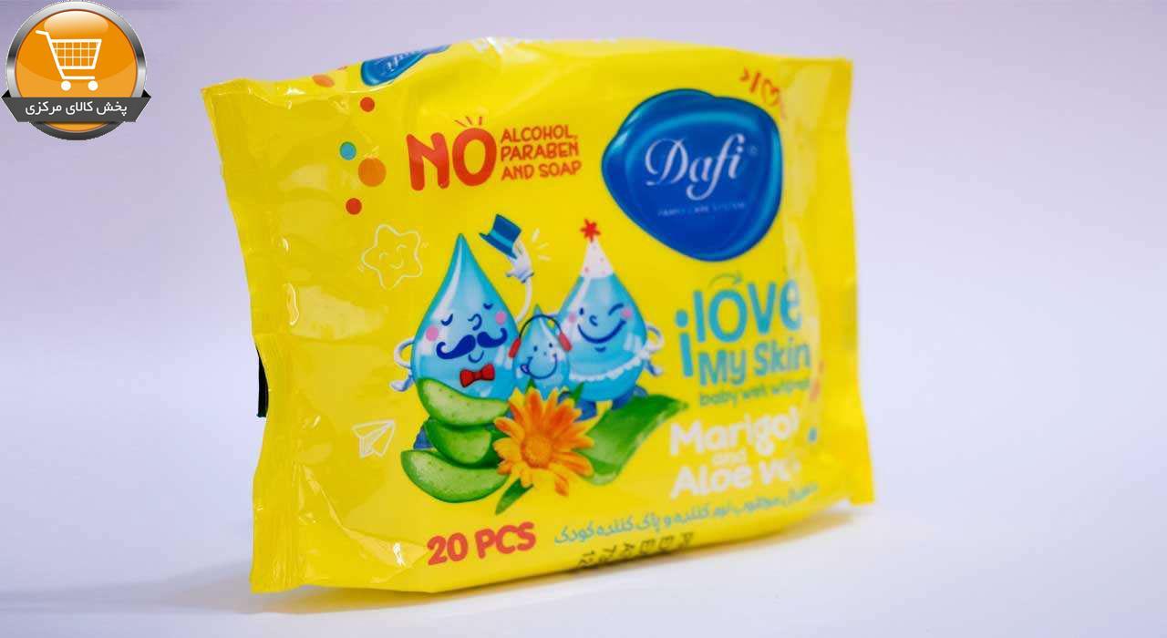 دستمال مرطوب کودک دافی مدل Sensitive بسته 20 عددی | پخش کالای مرکزی