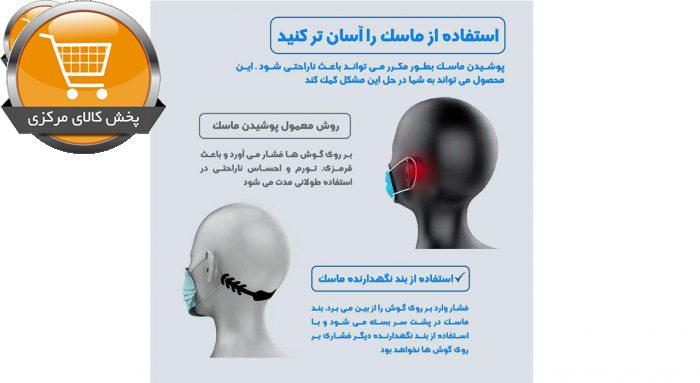 گیره نگهدارنده بند ماسک صورت مدل سایمان بسته 5 عددی | پخش کالای مرکزی
