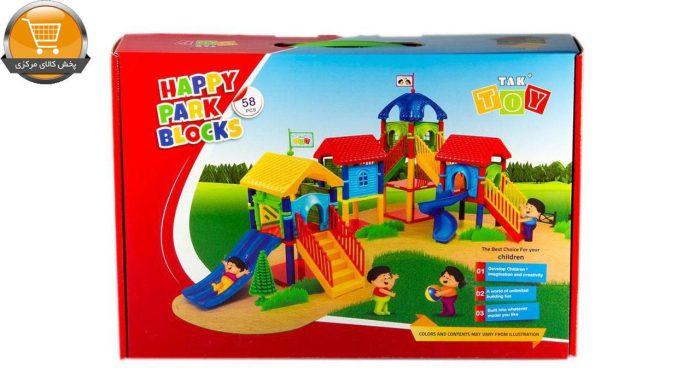 بازی آموزشی 58 تکه تک توی مدل Happy Park Blocks | پخش کالای مرکزی