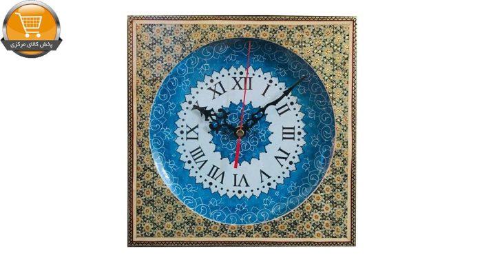 ساعت دیواری میناکاری اثر استاد پورصنعتی کد 2 | پخش کالای مرکزی