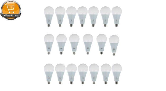 لامپ ال ای دی 15 وات بروکس مدل A70 پایه E27 بسته 20 عددی | پخش کالای مرکزی