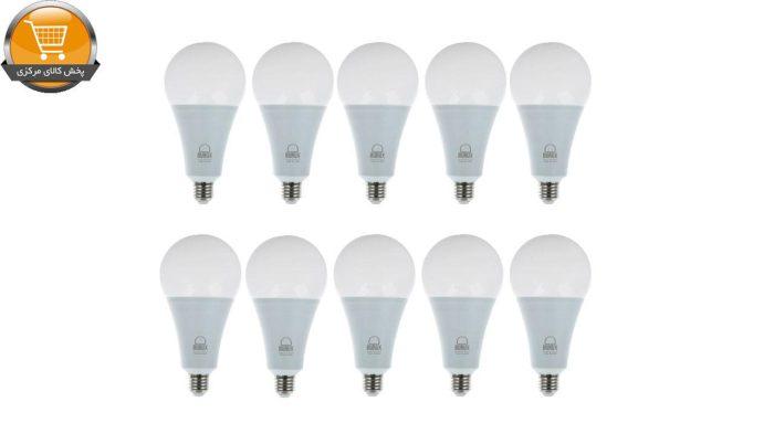 لامپ ال ای دی 15 وات بروکس مدل A70 پایه E27 بسته 10 عددی | پخش کالای مرکزی