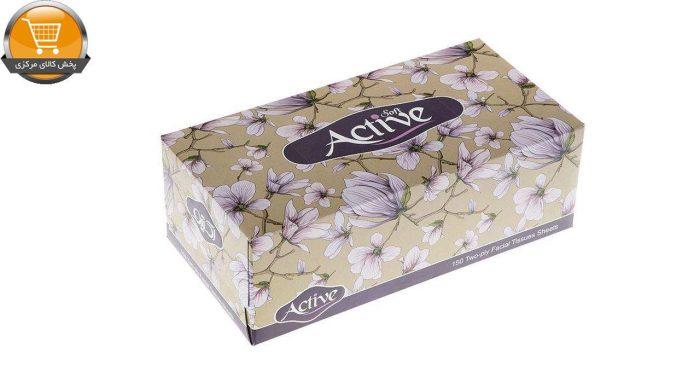 دستمال کاغذی 150 برگ اکتیو مدل Yas Flower | پخش کالای مرکزی