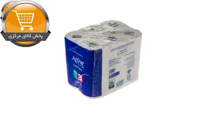 دستمال توالت اکتیو مدل 001 بسته 12 عددی | پخش کالای مرکزی