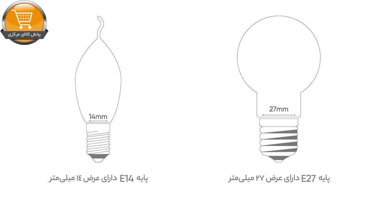 لامپ ال ای دی 12 وات بروکس مدل General A65 پایه E27   پخش کالای مرکزی