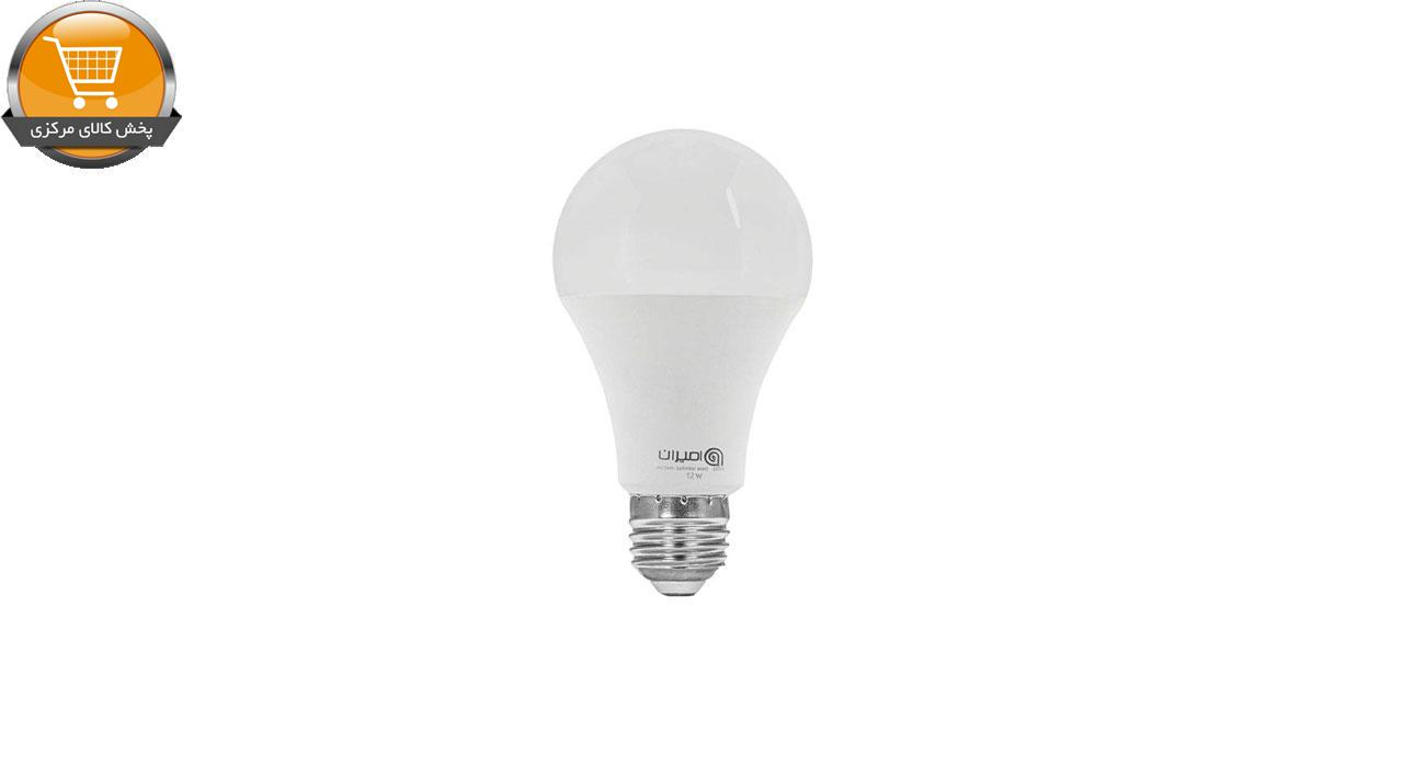 لامپ ال ای دی 12 وات امیران کد 602 پایه E27 بسته 5 عددی   پخش کالای مرکزی