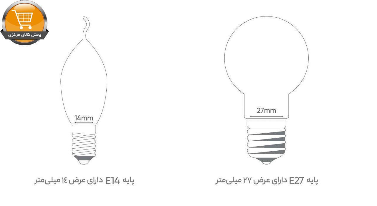 لامپ ال ای دی 15 وات بروکس مدل A70 پایه E27   پخش کالای مرکزی