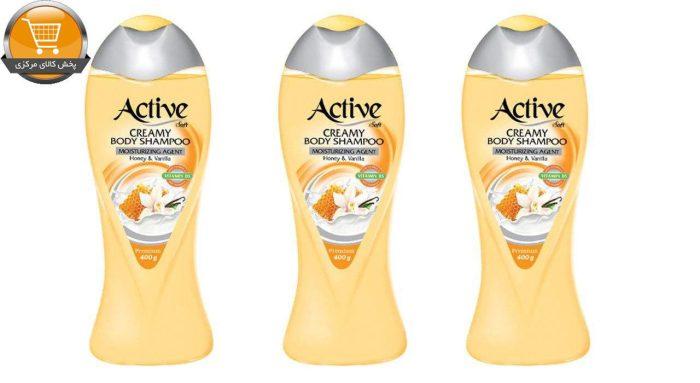 شامپو بدن اکتیو مدل Vanilla And Honey وزن 400 گرم بسته 3 عددی   پخش کالای مرکزی