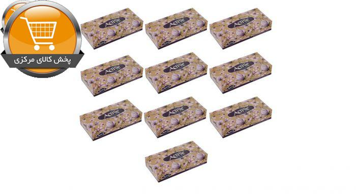 دستمال کاغذی 100 برگ اکتیو مدل eslimi بسته 10 عددی | پخش کالای مرکزی