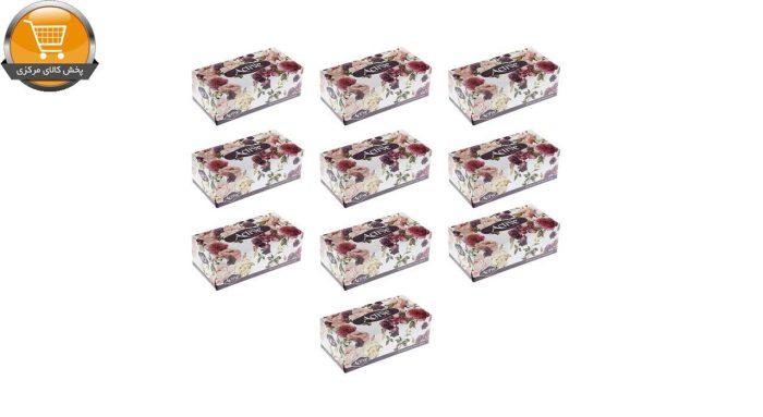 دستمال کاغذی 150 برگ اکتیو مدل Yas Flower بسته 10 عددی | پخش کالای مرکزی